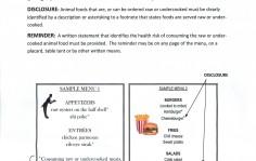 食中毒の注意書き